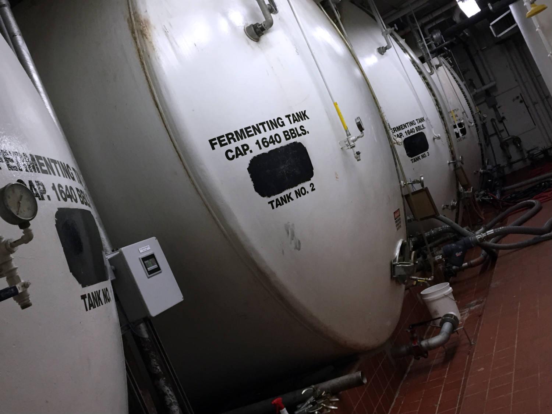 Fermenting Tanks at Saranac Brewery in Utica, New York