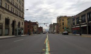 Main Street in Utica, New York