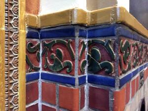 Terra Cotta Tiles in St. Luke's Mission in Buffalo, New York