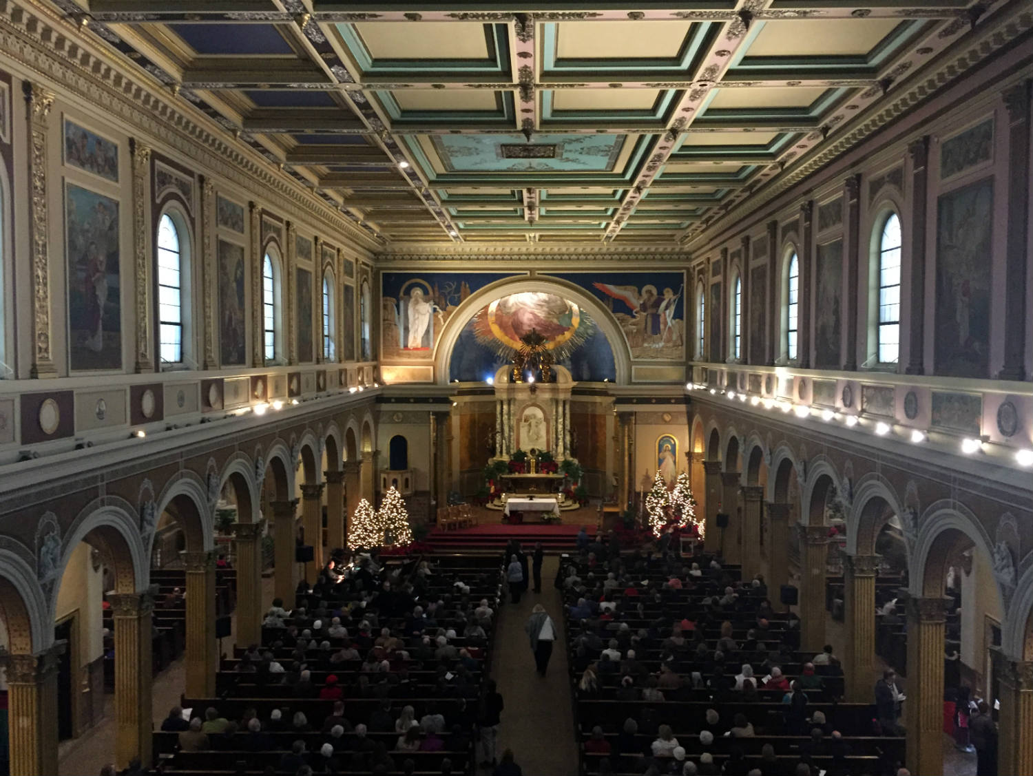 Nave of St. Luke's Mission in Buffalo, New York