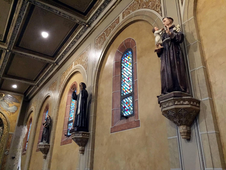 Side Altar Saints in St. Luke's Mission in Buffalo, New York