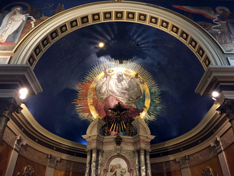 God Mural in St. Luke's Mission in Buffalo, New York