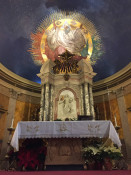 God Mural and Altar in St. Luke's Mission in Buffalo, New York
