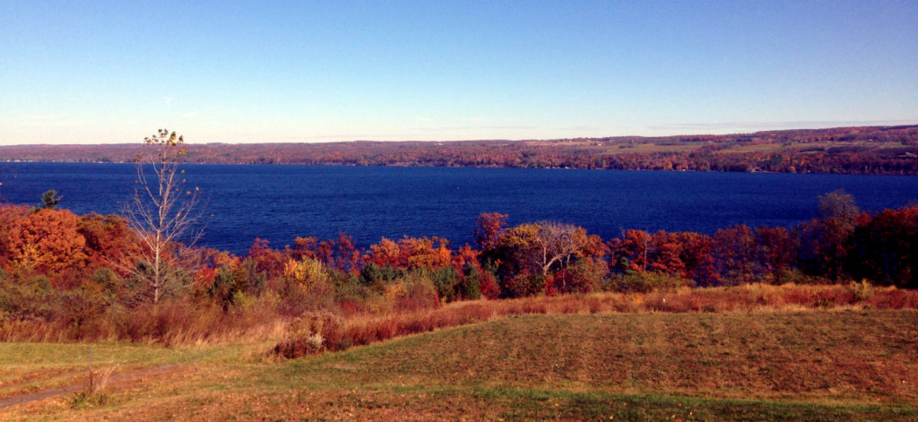 Seneca Lake in Autumn in Upstate New York