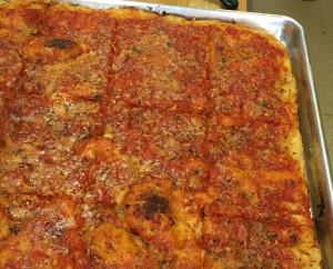 Tomato Pie at Daniele Ristorante in Utica, New York