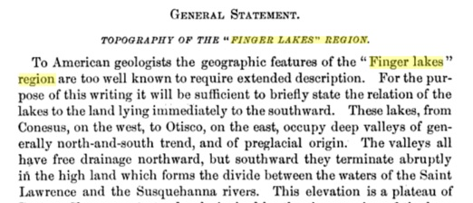 Excerpt from Fairchild's Topography of the Finger Lakes Region