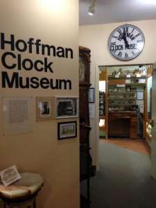 Hoffman Clock Museum in Newark, New York Entranceway