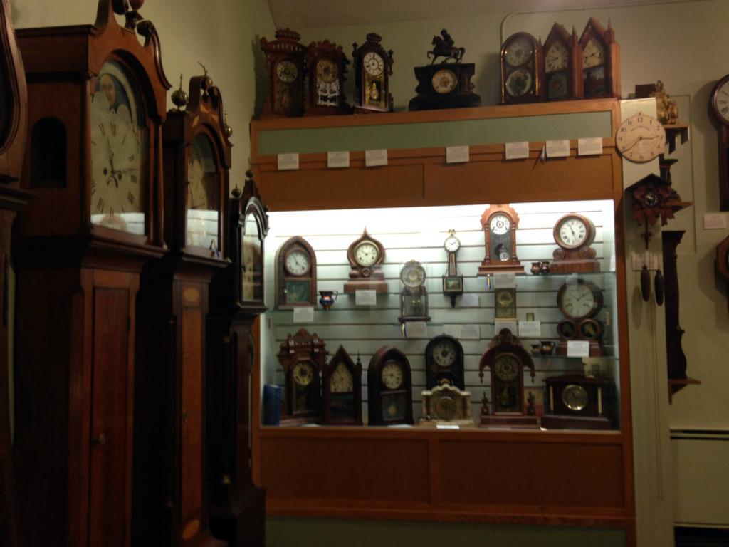 Clock Displays in the Hoffman Clock Museum in Newark, New York