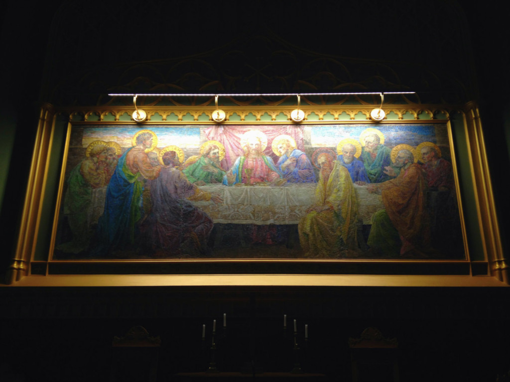 Louis Comfort Tiffany Last Supper Mosaic in Clifton Springs, New York