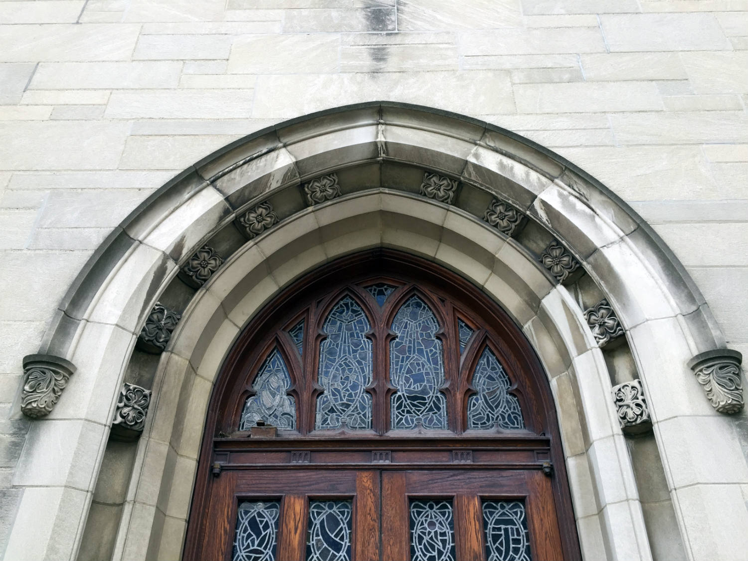 Doorway Arch at Third Presbyterian Church on East Ave in Rochester, NY