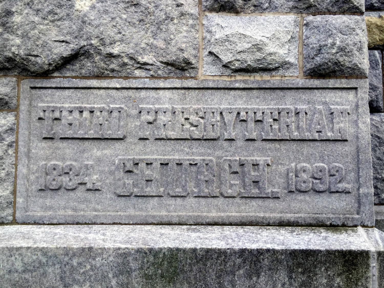 Cornerstone at Third Presbyterian Church in Rochester, NY