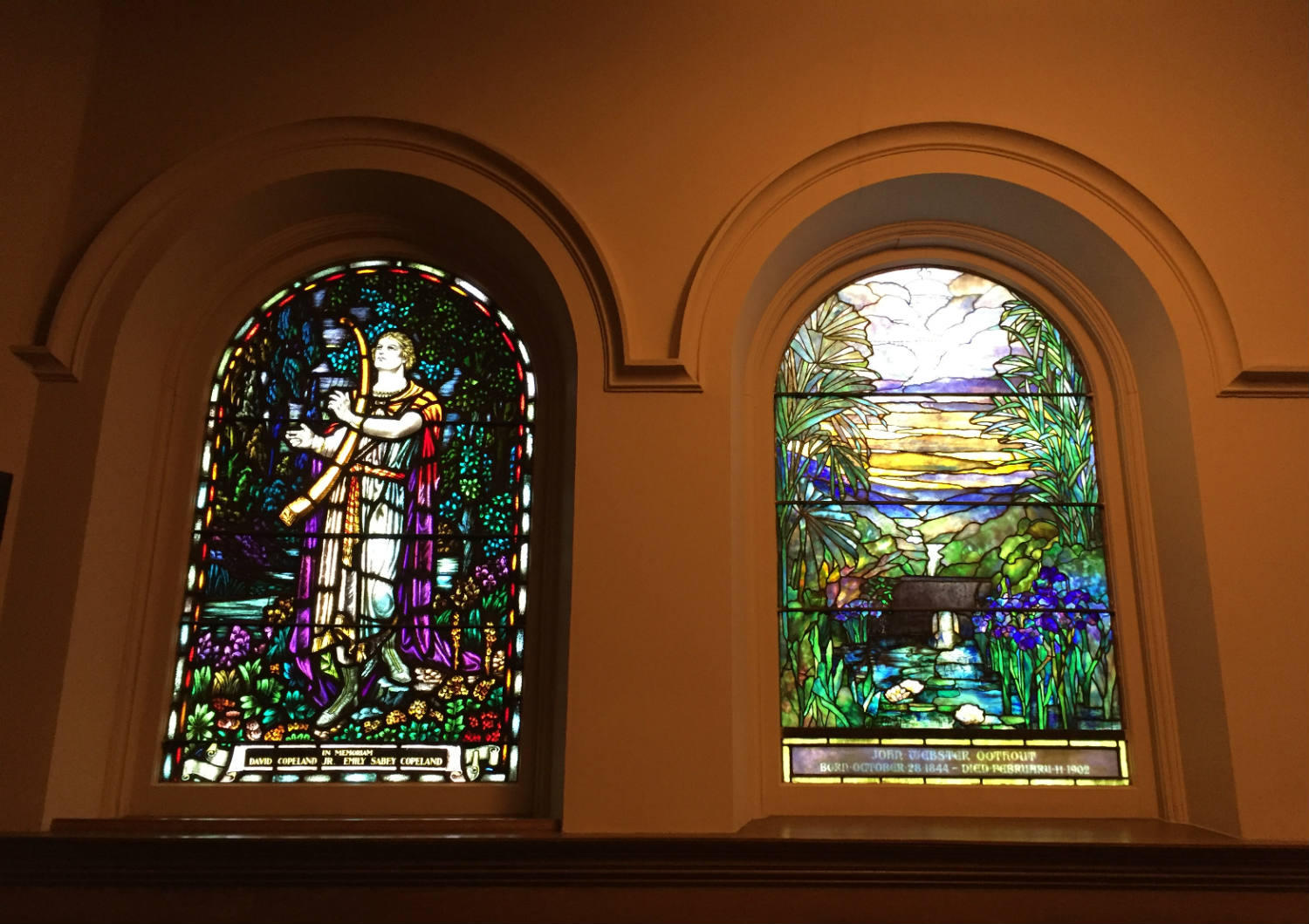Stained Glass Windows at Third Presbyterian Church on East Ave in Rochester, NY