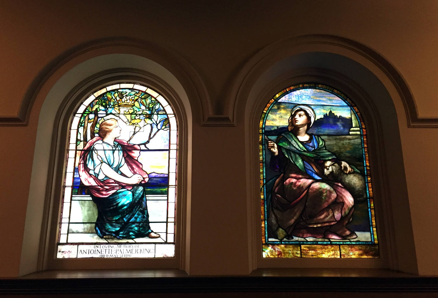Tiffany Stained Glass Windows at Third Presbyterian Church on East Ave in Rochester, NY