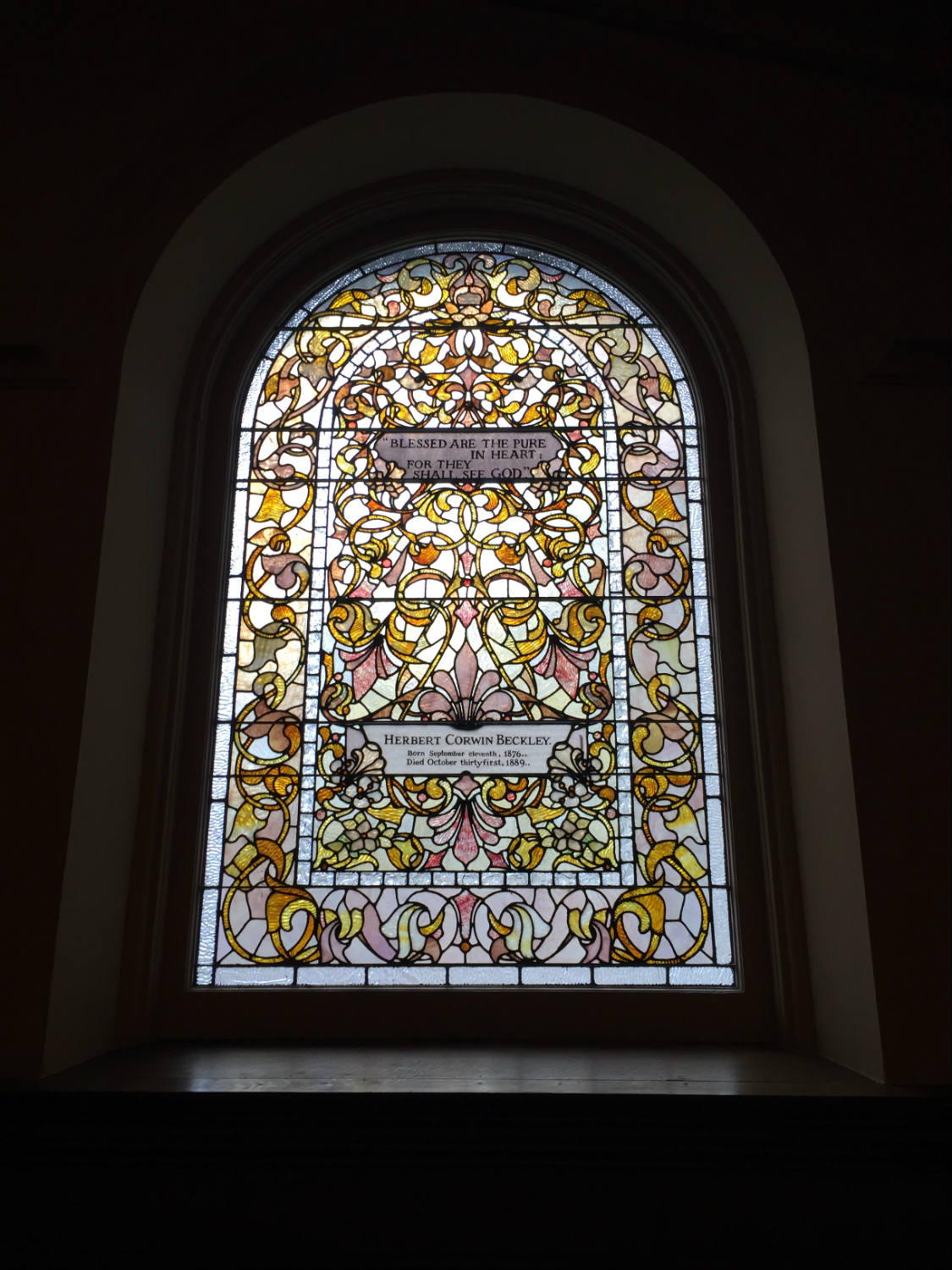 Stained Glass Window in Third Presbyterian Church in Rochester, NY