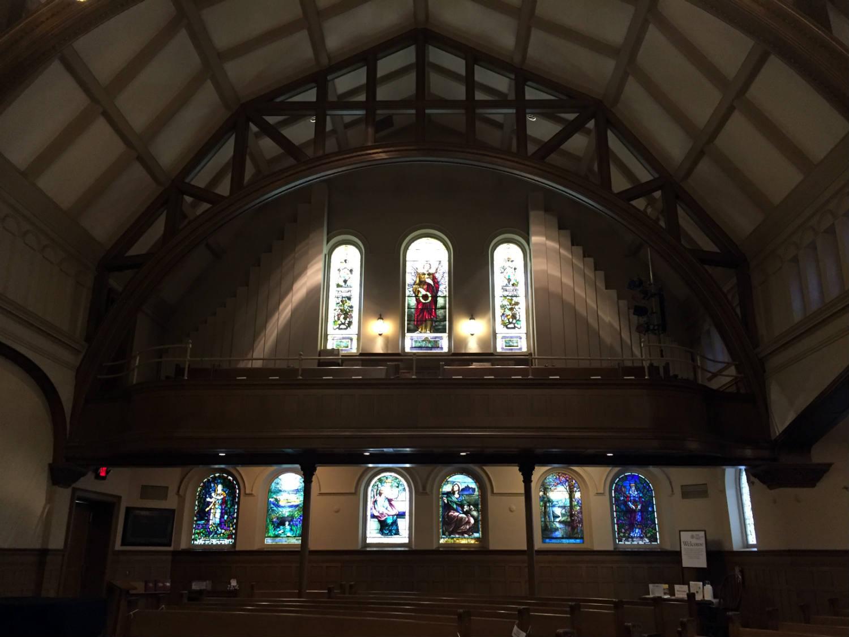 South Balcony Windows in Third Presbyterian Church in Rochester, NY