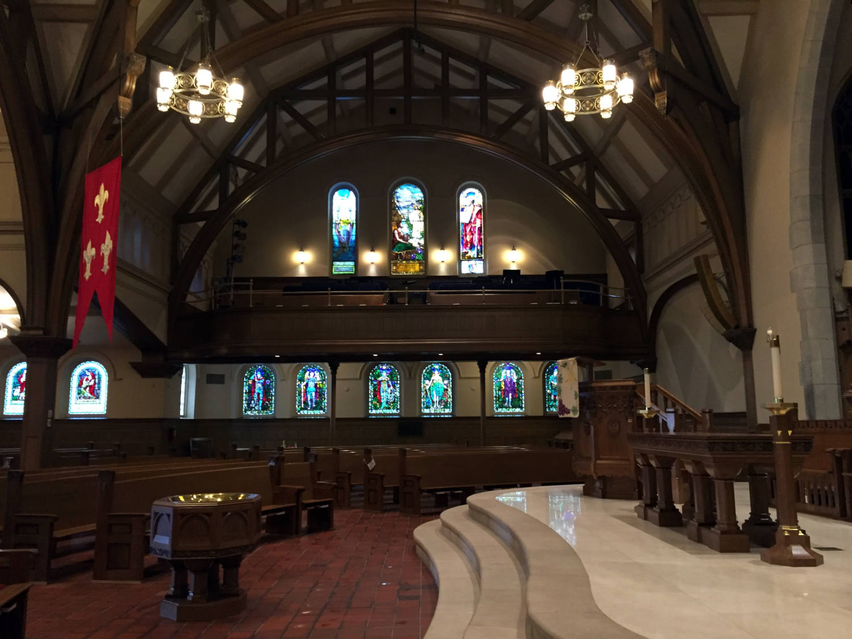 North Balcony and Altar in Third Presbyterian Church in Rochester, NY