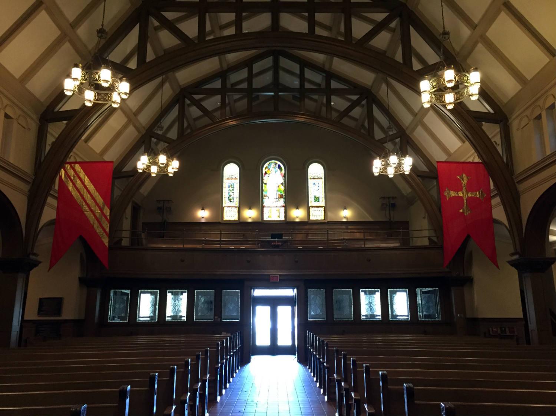 Choir Loft and Nave in Third Presbyterian Church in Rochester, NY