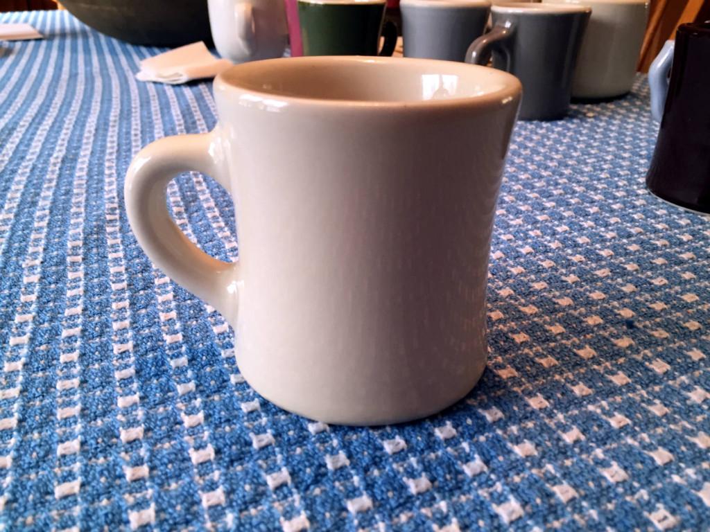 Classic White Victor Diner Coffee Mug