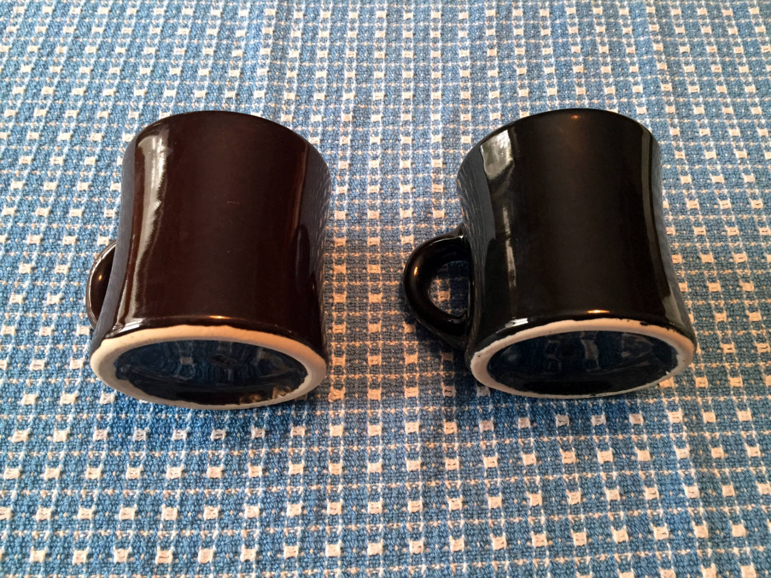 Brown and Black Victor Coffee Mugs