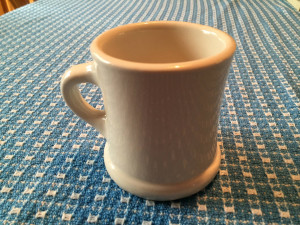 Rare Victor Coffee Mug with Pedestal in White