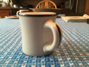 Rare Victor Coffee Mug with Green Paint Decoration