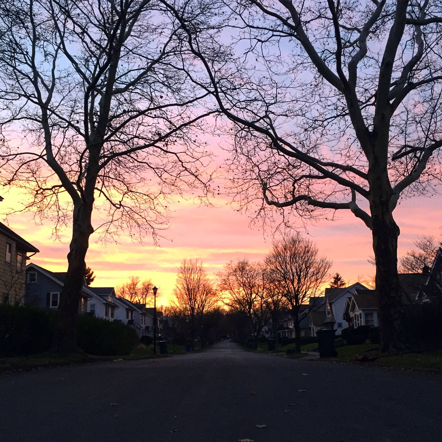 Sunset in the North Winton Village Neighborhood of Rochester, New York