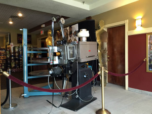 Historic Film Projector in Lobby at the Aurora Theatre in East Aurora, New York