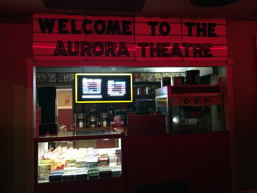 Original Concessions Stand in Aurora Theatre in East Aurora, New York