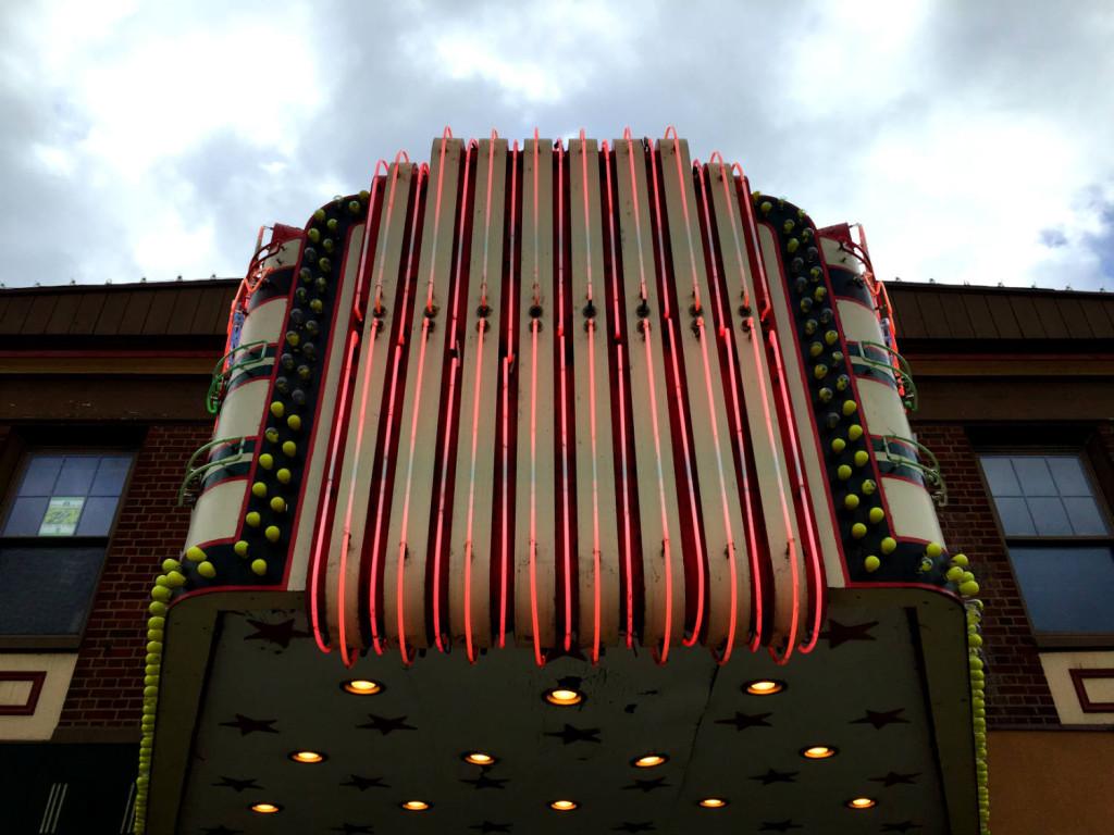 Marquee at Aurora Theatre in East Aurora, New York