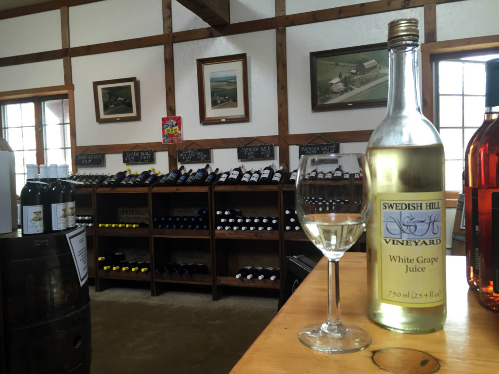 White Grape Juice at Swedish Hill Winery in Romulus, New York