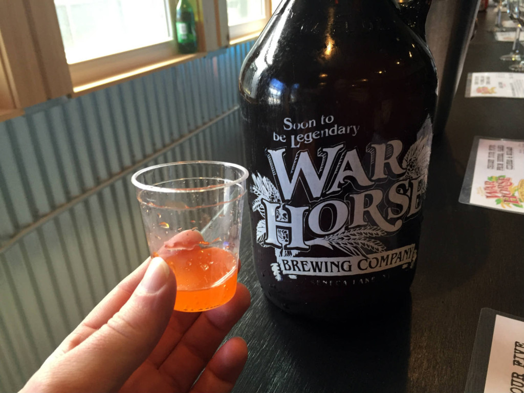 Orange Soda War Horse Brewing in Geneva, New York