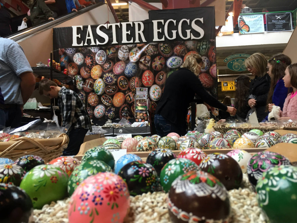 Easter Eggs at the Broadway Market in Buffalo, New York