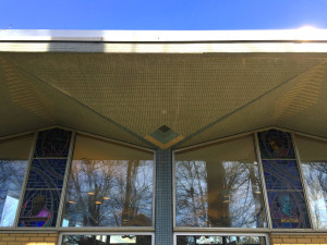 Overhang on Roof at Edith B. Ford Library in Ovid, New York