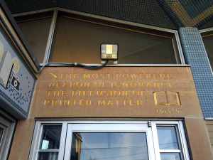 Tolstoi Quote at Edith B. Ford Memorial Library in Ovid, New York