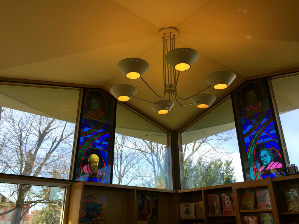 Stained Glass Inside The Edith B. Ford Memorial Library in Ovid, New York