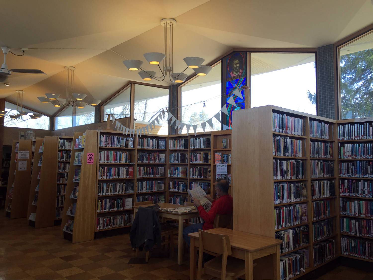 Inside The Edith B. Ford Memorial Library in Ovid, New York