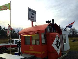 The Black Diamond Diner in Covert, New York - World's Smallest Railroad Diner