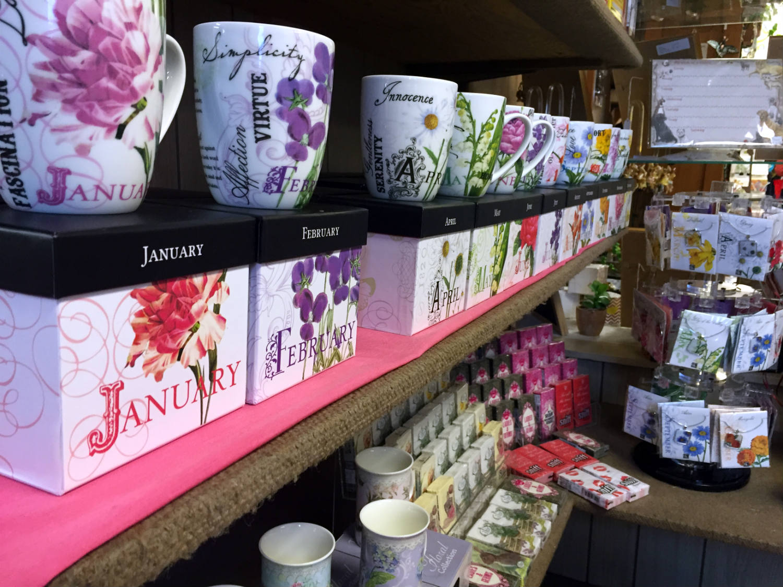 Coffee Mugs in Gift Shop in Vidler's in East Aurora, New York