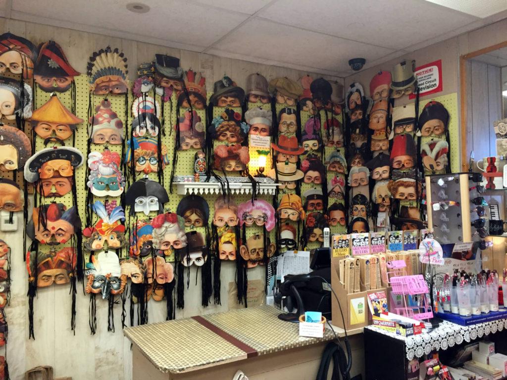 Silly Masks in Vidler's in East Aurora, New York
