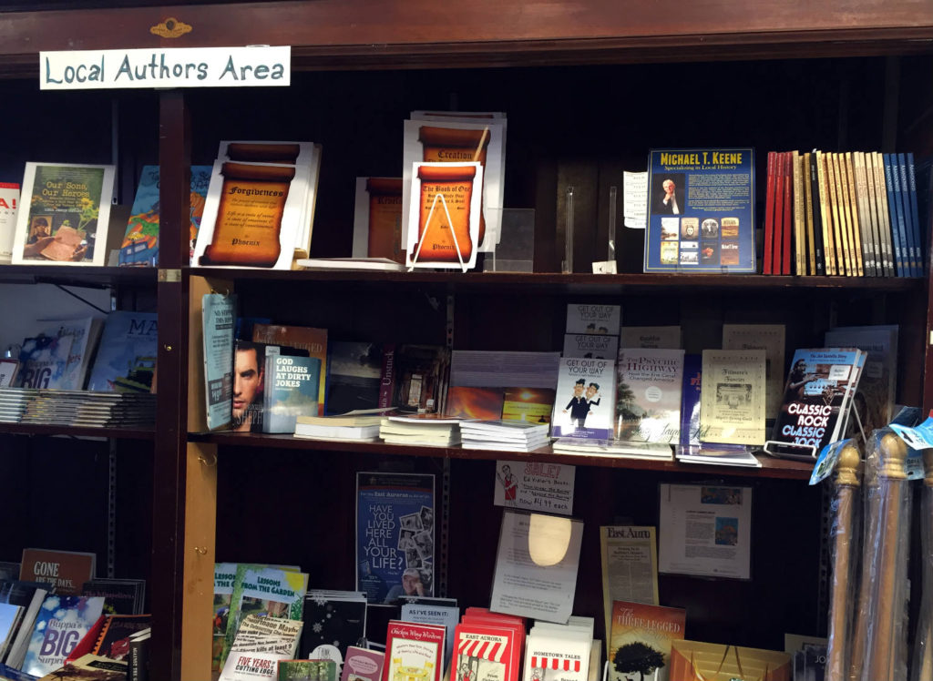 Local Authors Books in Vidler's in East Aurora, New York