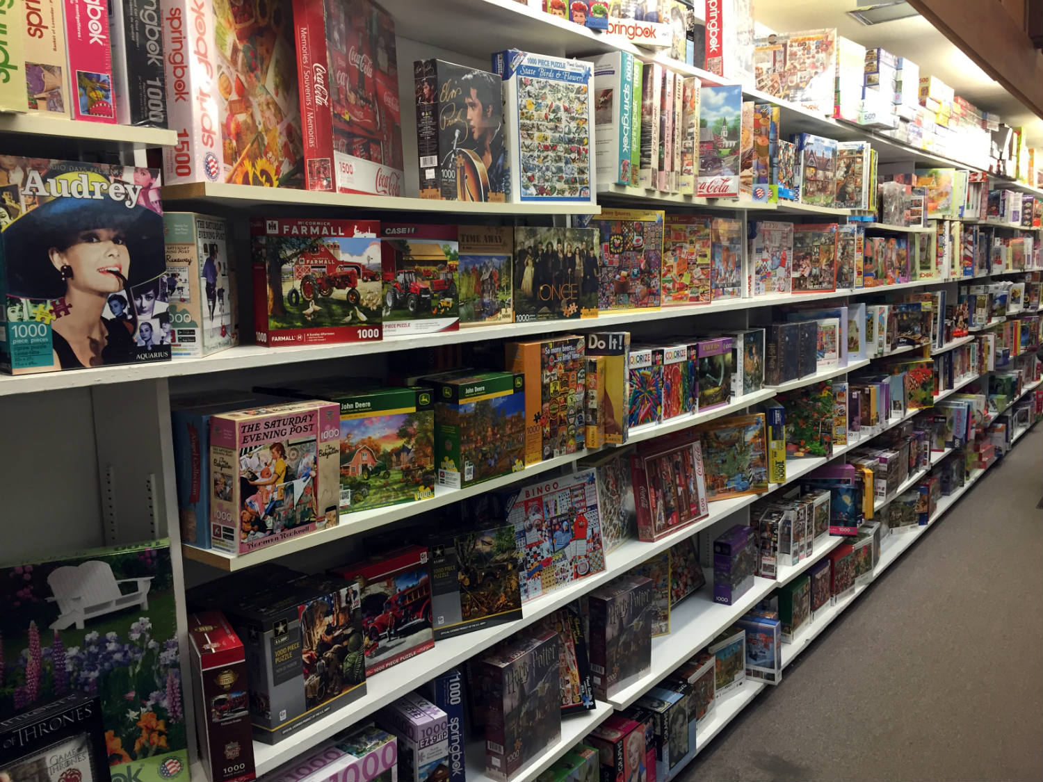 Puzzle Section at Vidler's in East Aurora, New York