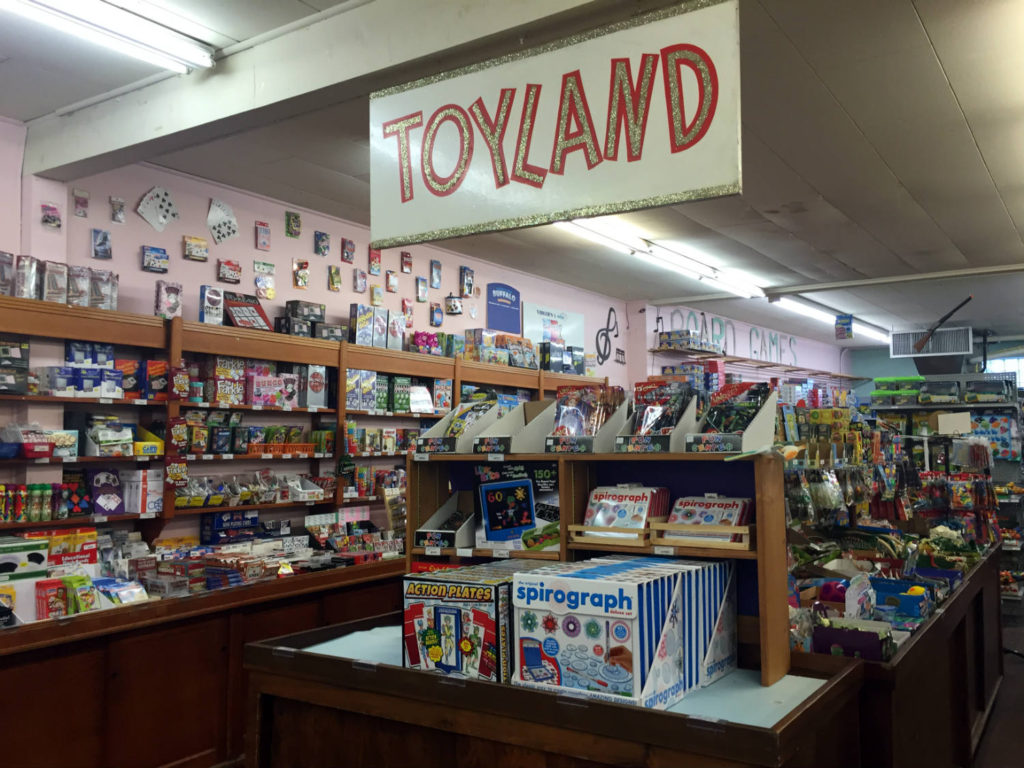 Toyland Section at Vidler's in East Aurora, New York