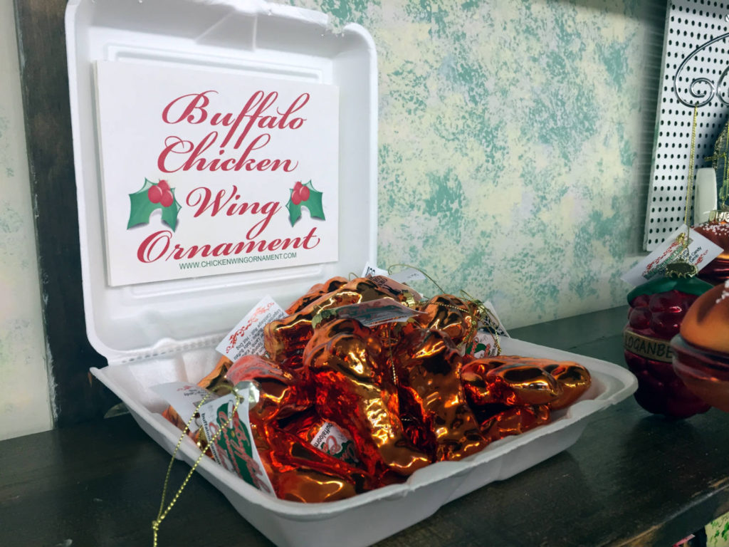 Chicken Wing Ornaments at Vidler's in East Aurora, New York