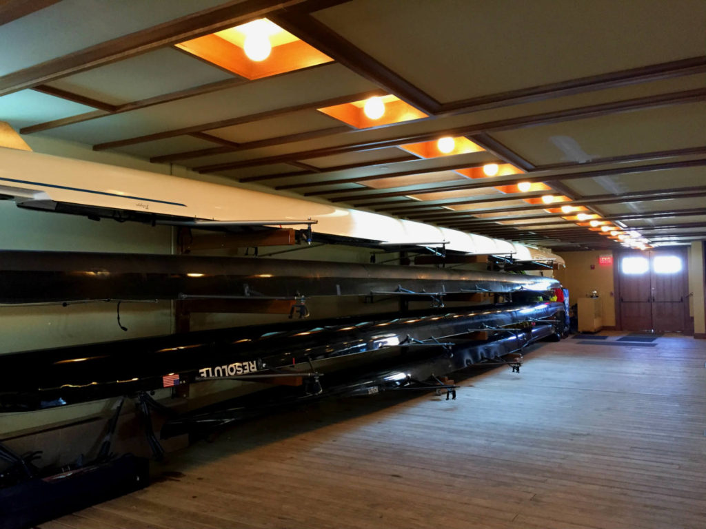 Boat Storage in the Frank Lloyd Wright Fontana Boathouse in Buffalo, New York