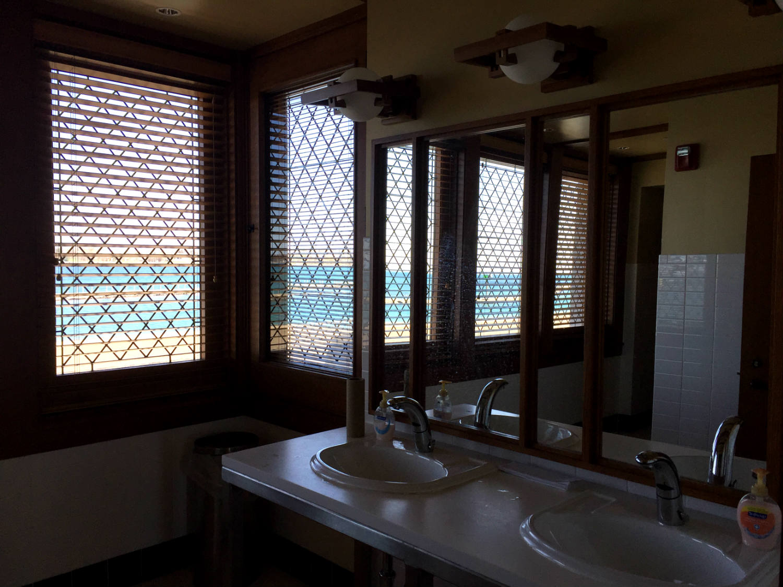 Men's Bathroom in the Frank Lloyd Wright Fontana Boathouse in Buffalo, New York