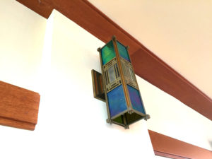 Light Fixture in the Frank Lloyd Wright Fontana Boathouse in Buffalo, New York