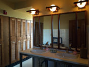 Women's Bathroom in the Frank Lloyd Wright Fontana Boathouse in Buffalo, New York