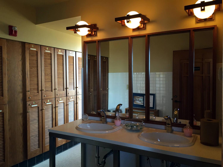 Women's Bathroom in the Frank Lloyd Wright Fontana Boathouse in Buffalo, New York