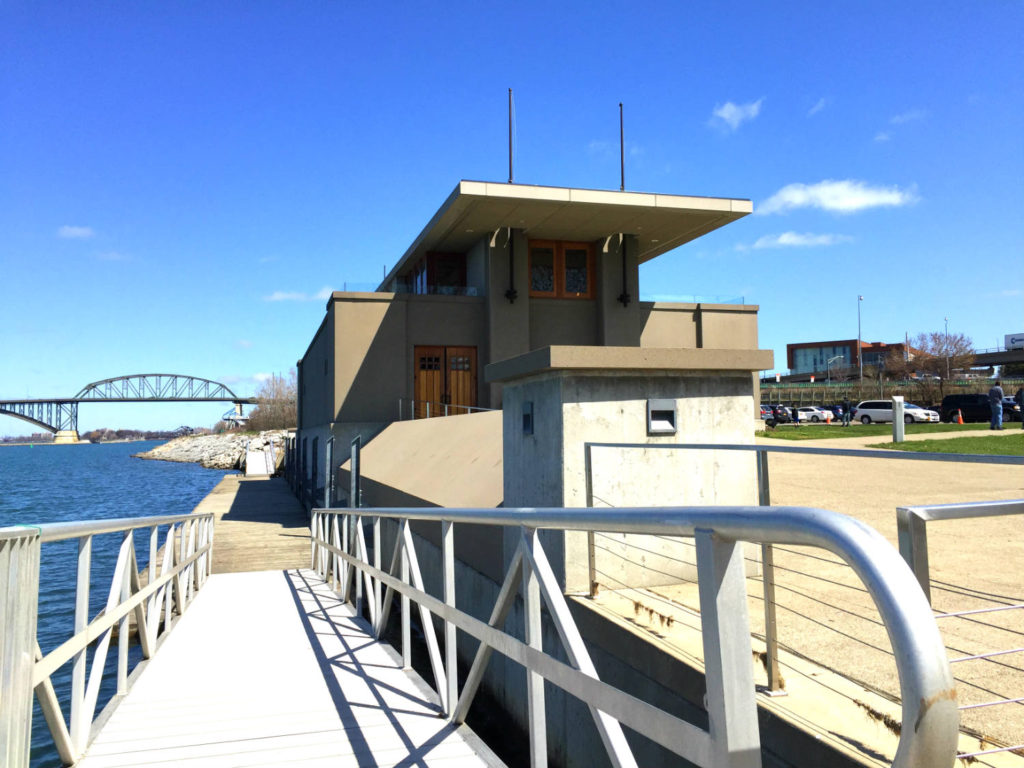 Frank Lloyd Wright Fontana Boathouse and Dock in Buffalo, New York