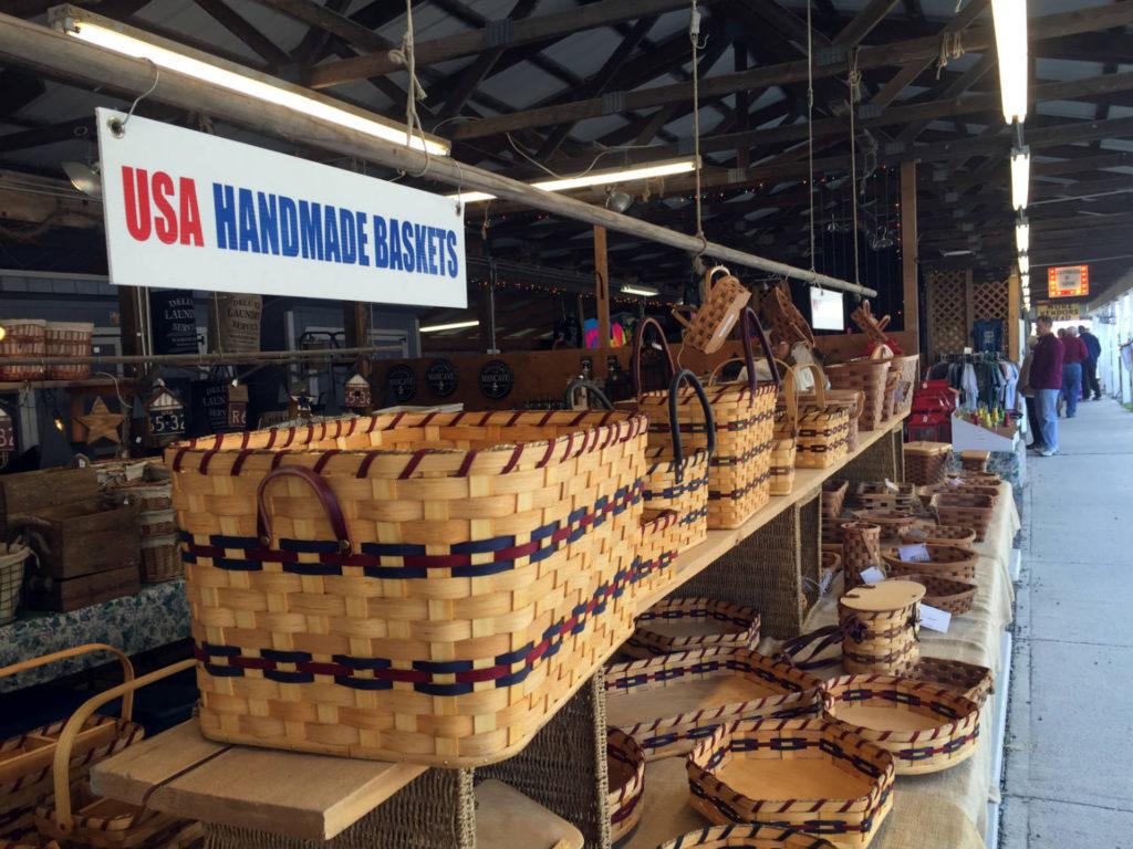 Handmade Baskets at the Windmill in Penn Yan, New York